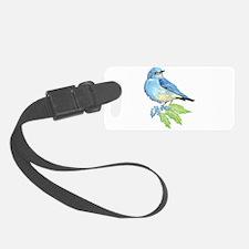 Watercolor Mountain Bluebird Bird nature Art Luggage Tag