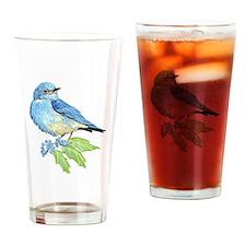 Watercolor Mountain Bluebird Bird nature Art Drink