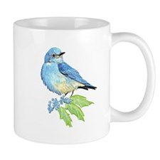 Watercolor Mountain Bluebird Bird nature Art Mugs