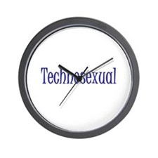 Technosexual Metrosexual Wall Clock