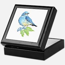 Watercolor Mountain Bluebird Bird nature Art Keeps