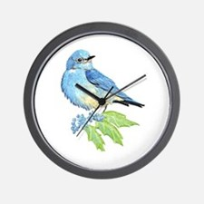 Watercolor Mountain Bluebird Bird nature Art Wall