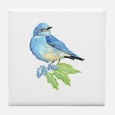 Watercolor Mountain Bluebird Bird nature Art Tile