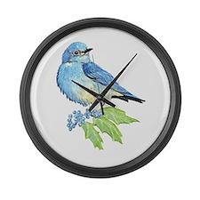 Watercolor Mountain Bluebird Bird nature Art Large