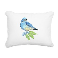 Watercolor Mountain Bluebird Bird nature Art Recta