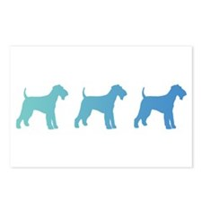 Airedale Blue Ombre Postcards (Package of 8)