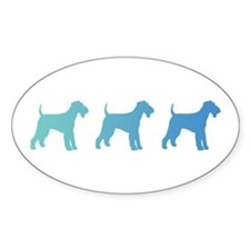 Airedale Blue Ombre Decal