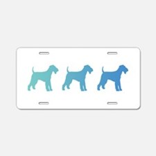 Airedale Blue Ombre Aluminum License Plate
