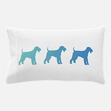 Airedale Blue Ombre Pillow Case