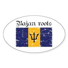 Bajan roots Oval Decal