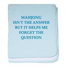 mahjong baby blanket