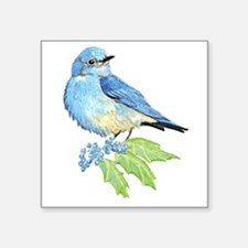 Watercolor Mountain Bluebird Bird nature Art Stick