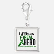 Cerebral Palsy Real Hero 2 Silver Square Charm
