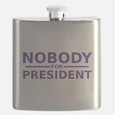 Nobody For President Flask