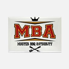 MBA Barbecue Rectangle Magnet