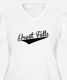 Great Falls, Retro, Plus Size T-Shirt