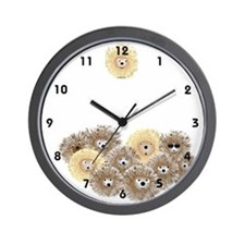 Hedgehog Party Wall Clock