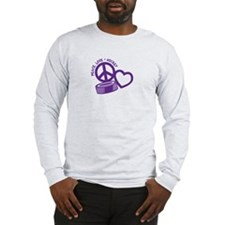 PEACE-LOVE-HOCKEY Long Sleeve T-Shirt