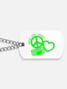 PEACE-LOVE-HOCKEY Dog Tags