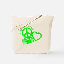 PEACE-LOVE-HOCKEY Tote Bag