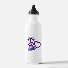 PEACE-LOVE-HOCKEY Water Bottle