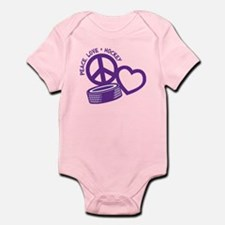 PEACE-LOVE-HOCKEY Infant Bodysuit