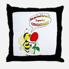 Grandma To Bee Throw Pillow