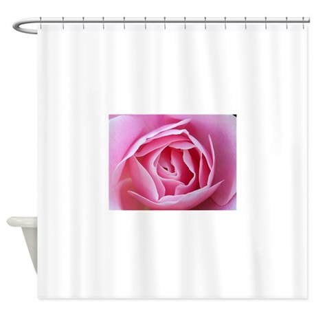 pink rose shower curtain by giftsfromwashington