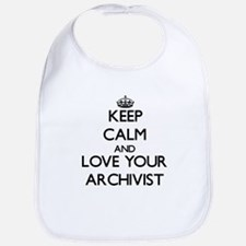 Keep Calm and Love your Archivist Bib