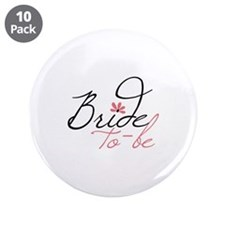 "Bride to - be 3.5"" Button (10 pack)"