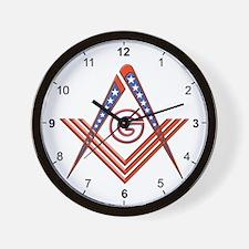 American Free Mason Wall Clock