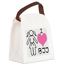 I love BJJ Canvas Lunch Bag