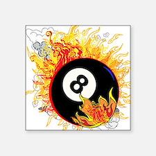 Fiery Eight Ball Sticker
