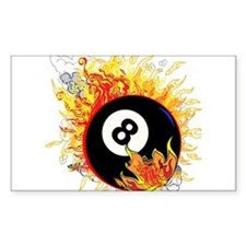 Fiery Eight Ball Decal