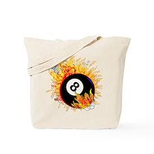 Fiery Eight Ball Tote Bag
