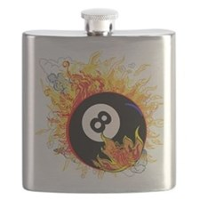 Fiery Eight Ball Flask