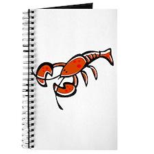 Cute Cartoon Lobster Journal