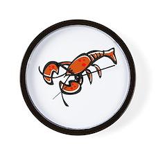Cute Cartoon Lobster Wall Clock