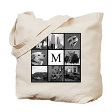 Monogrammed Photo Block Tote Bag