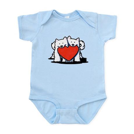 German Spitz Duo Infant Bodysuit
