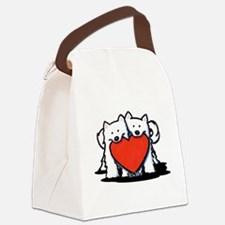 German Spitz Duo Canvas Lunch Bag