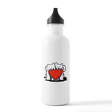 German Spitz Duo Sports Water Bottle