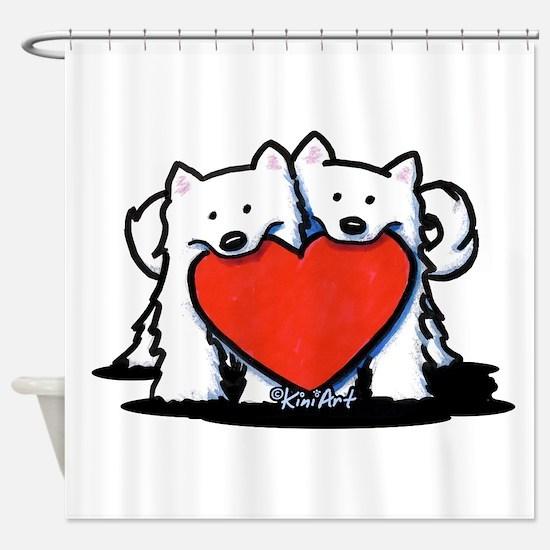 German Spitz Duo Shower Curtain