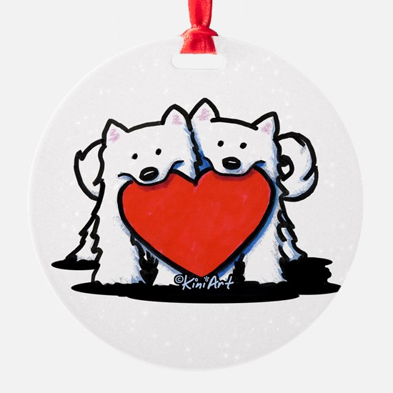German Spitz Duo Ornament