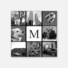 Monogrammed Photo Block Sticker