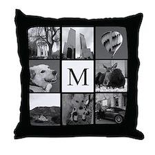 Monogrammed Photo Block Throw Pillow