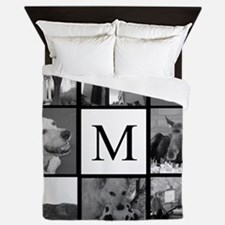 Monogrammed Photo Block Queen Duvet