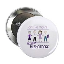 """ON THE MOVE TO END ALZHEIMERS 2.25"""" Button"""