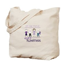 ON THE MOVE TO END ALZHEIMERS Tote Bag