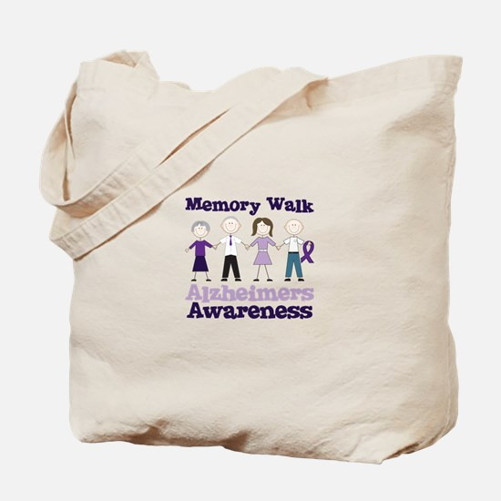 Memory Walk ALZHEIMERS AWARENESS Tote Bag